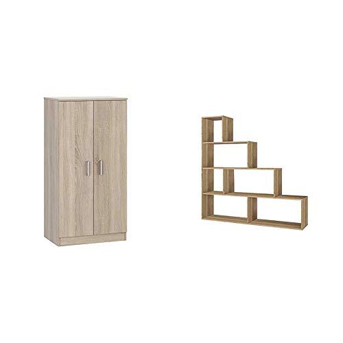 Habitdesign Zapatero, Roble Canadian, 108 cm (Alto) x 55 cm (Largo) x...