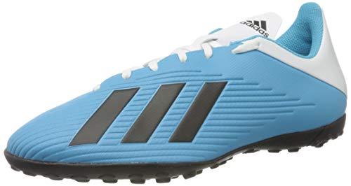 adidas F35345_42 2/3, Scarpe da Calcio in Erba Sintetica Uomo, Bleu Cyan Noir Rose Flash, EU