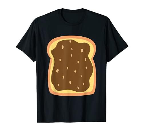 Mantequilla de man Toast Lazy DIY Disfraz de Halloween a juego Camiseta