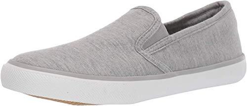 Amazon Essentials Women's Casual Slip On Sneaker, Grey, 7.5 Medium US