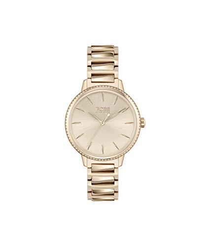 Hugo Boss Damen Analog Quarz Uhr mit Edelstahl Armband 1502540