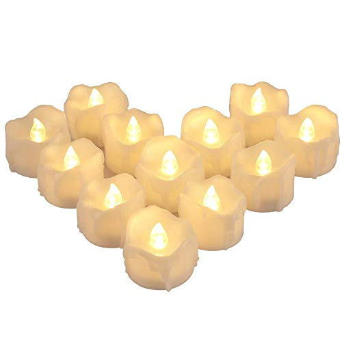 Gracebaby New Year Candles,Battery Powered Led Tea Lights,Tealights Fake Led Candle Light Easter Candle
