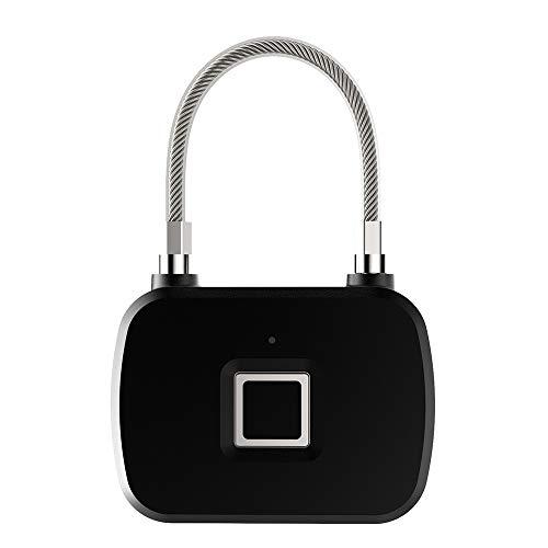 ROGF Smart Lock Waterproof Travel Keyless Anti-Theft Luggage Lock Travel Office Security Handbags School Bags Cabinets Fingerprint Padlock Smart Fingerprint Padlock For family