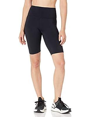 """Amazon Brand - Core 10 Women's Midweight Onstride High Waist Workout Biker Short 9.5"""", Black, 3X"""
