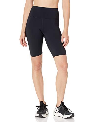 """Amazon Brand - Core 10 Women's Midweight Onstride High Waist Workout Biker Short 9.5"""", Black, X-Small"""