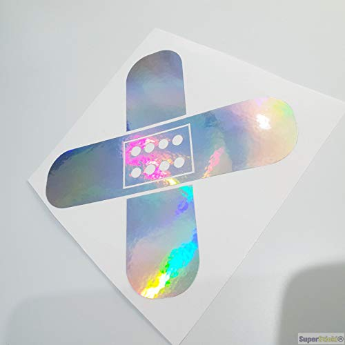 SUPERSTICKI pleister olie-slick folie hologram auto tuning sticker ca 20 cm autosticker