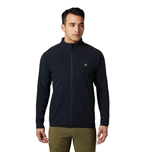Price comparison product image Mountain Hardwear Macrochill Full Zip Mens Classic Fleece Jacket for Hiking,  Backpacking,  Climbing,  and Everyday - Black - Medium