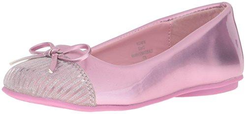 Kensie Girl KG24516 Flat, Pink Metal, 12 M US Little Kid