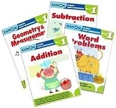 Kumon Grade 1 Math workbooks (4 books) - Addition, Subtraction, Geometry & Measurement and Word Problem