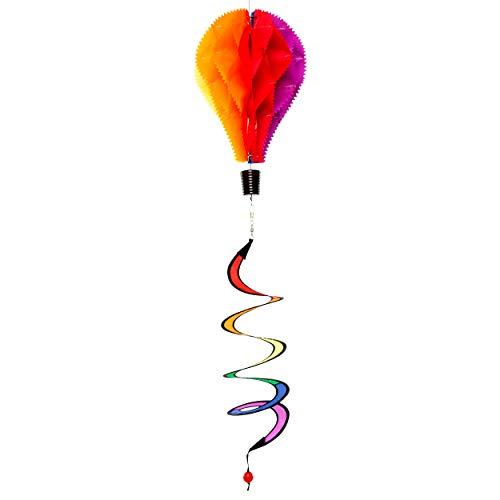 Wolkenstürmer Twister Heißluftballon Windspiel, 22cm x 34 cm - Ballon Facette als Gartendeko