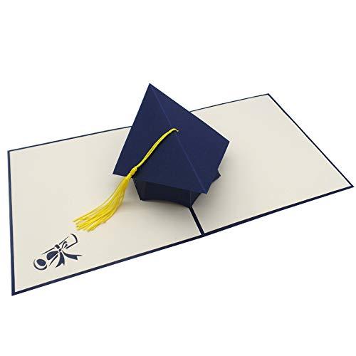 UNICUM Glückwunschkarte 3D Pop-Up Doktorhut mit Quaste | Geschenk für Student und Studentin | Karte | Uni Abschluss | Abitur | Examen | Bachelor | Master | Graduation CG001