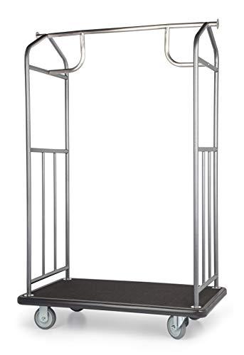 Value Valet Bellman's Cart, Hammertone Finish, 8' Semi-Pneumatic Wheels
