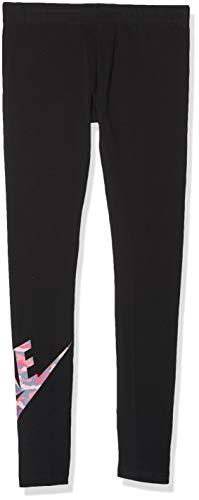 Nike Mädchen FAV Camo Tights, Black/(Pink), XL
