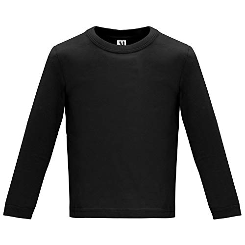 ROLY Camiseta Baby 7203 Bebé Manga Larga Negro 02 24 M