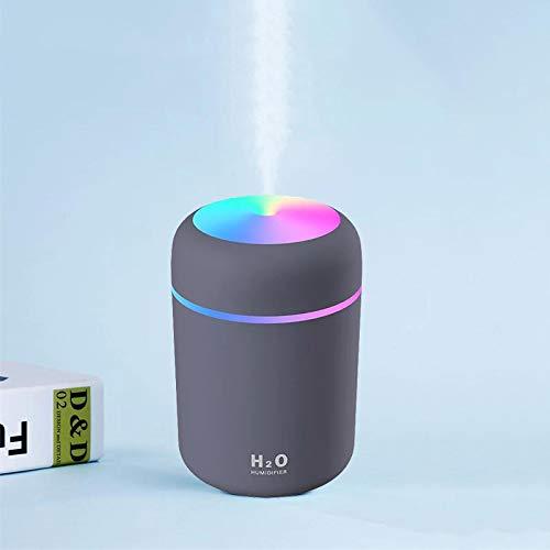 Humidificadores Difusor Aceites Esenciales Humidificador De Aire De Taza Deslumbrante De Regalo De 300 Ml para El Hogar USB Difusor De Aroma Ultrasónico Fabricante De Niebla De Coche Humidificado