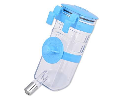 ds. distinctive style Kaninchen Wasser Flasche kein Tropfenfänger 350ml / 12oz Welpen Kisten-Wasserspender Haustier Käfig hängende Wasser Flaschen (Blau)