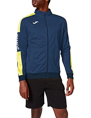 Veste pour Homme, Taille 4XS, Bleu Marine/Jaune
