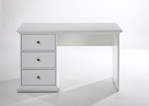 moebel-guenstig24.de Schreibtisch Paris Bürotisch Landhausstil Landwood Schubladen weiß
