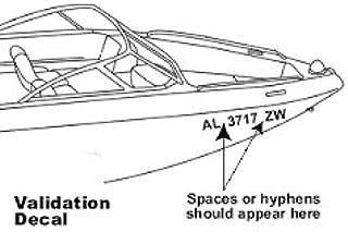 2 Boat Jet Ski Registration Number Decals Vinyl Sticker PWC Lettering 3 Set of 2, pair