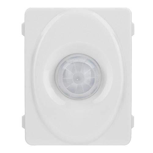 Richer-R Infrarood bewegingsmelder, automatische 140 ° infrarood PIR bewegingssensor schakelaar, verstelbare 12V sensorschakelaar bewegingssensor voor LED-licht lamp wit