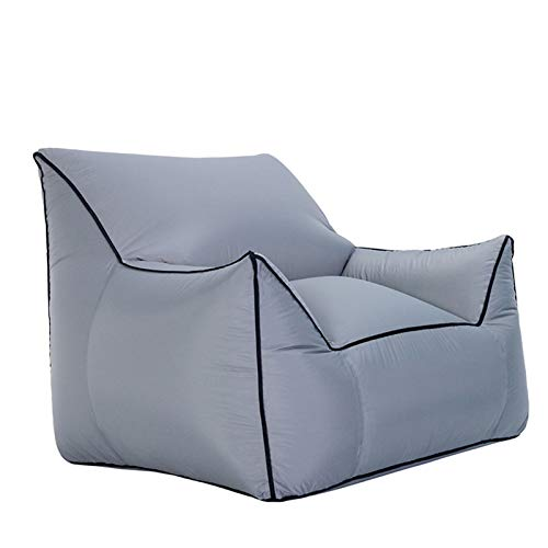 Sofá cama de salón, resistente al agua y a la intemperie, sofá inflable portátil de tela plegable transformable con material de nailon alto para uso en interiores y exteriores, L
