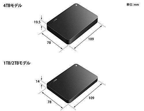 東芝Canvio4TBUSB3.2(Gen1)対応ポータブルHDDPC/TV対応バッファローサポート国内メーカー故障予測外付けMacブラックHD-TPA4U3-B/N