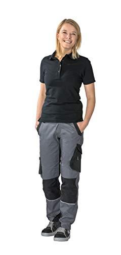 Planam Norit Damen Bundhose, Farbe: Schiefer/Schwarz, Größe: 38