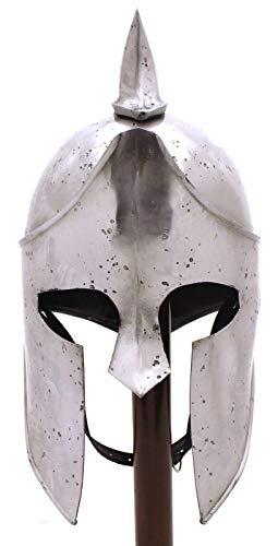 Medieval Spartan Helmet | Movie Helmet| Crusader Helmet Silver