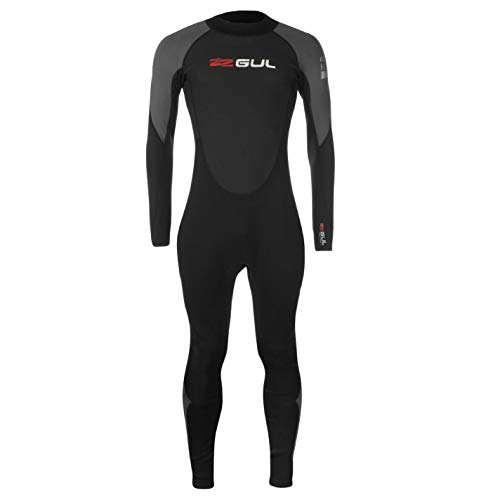 GUL Contour Full Wetsuit - Muta da uomo a maniche lunghe Nero/Grigio/Rosso L