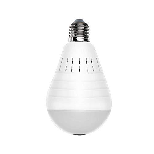 Cámara wifi Luz LED antirrobo de 360 grados 960P Inalámbrico Panorámico Seguridad para el hogar WiFi CCTV Lámpara de bulbo de ojo de pez Cámara IP-960P无卡
