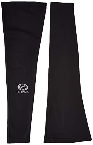 Optimum - Pantaloni termici da ciclismo, da uomo, Nero, M
