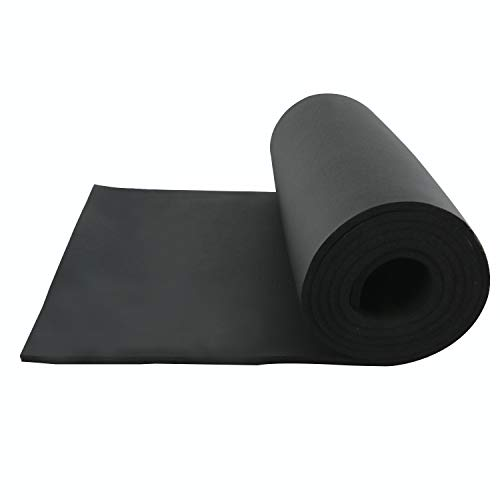 Homend Sponge Neoprene Without Adhesive Foam Rubber Sheet, Cut to Multiple Dimensions and Lengths - DIY, Gaskets, Cosplay, Costume, Crafts (1/4
