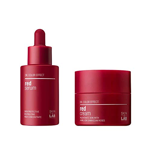 [SKIN&LAB] red serum and cream set, antioxidant, tightening, brightening, vitalizing, healthy skin