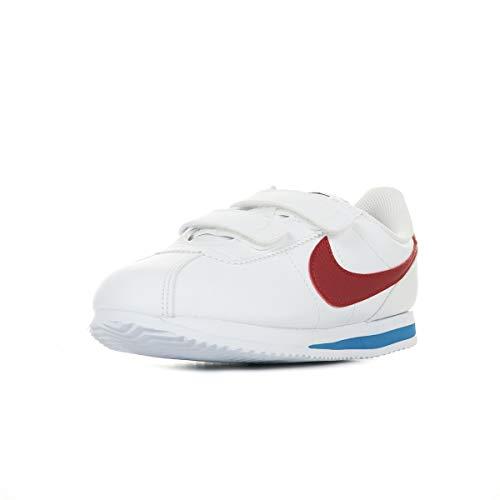 Nike Cortez Basic SL (PSV), Scarpe da Corsa, White/Varsity Red-Varsity Royal-Black-Mtlc Silver, 32 EU