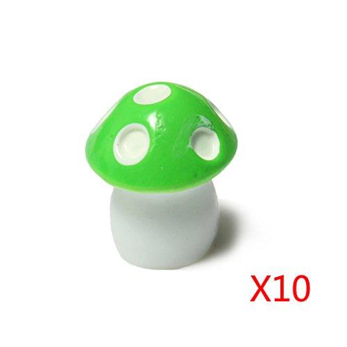 Yihaifu 10Pcs Mushroom Toadstool Fairy Garden Terrarium Figurine