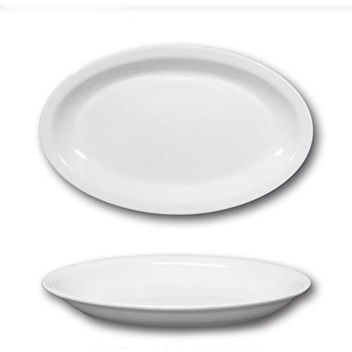 Plat ovale porcelaine blanche - L 27 cm - Roma