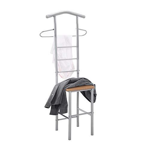 CARO-Möbel Herrendiener Stummer Diener Kleiderständer JIVO, in buchefarben anthrazit,121 cm, Garderobe mit Hosenbügel