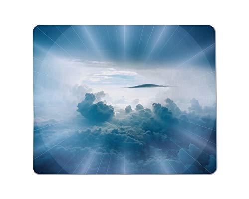 Yeuss zonlicht rechthoekig anti-slip muismat blauw, hemel, atmosfeer, overdag sfeer, blauw, overdag, kalm, wolk Gaming muismat 200mm x 240mm