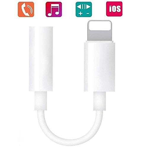 Apple MFi Certified Headphones Adapter for Apple, iPhone Lightning to 3.5mm Jack Converter, Aux Headphone Jack Adapter Compatible iPhone 11/11 Pro/11 Pro Max/iOS 13/X XR XS XS Max iPhone 7 7P 8 8P