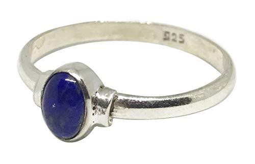 Shanya Ring handgearbeitet Sterling-Silber 925 Lapislazuli