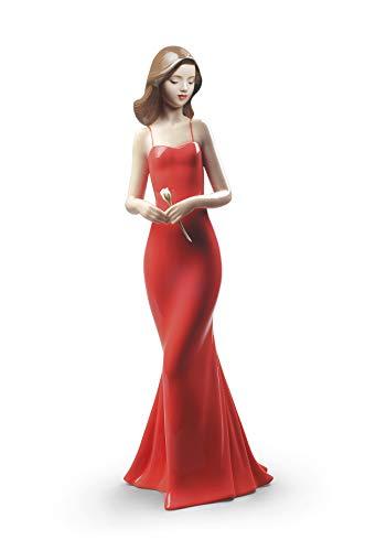 NAO Figura La Elegancia De Una Rosa. Mujer de Porcelana