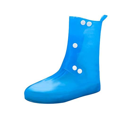 TwoCC-Regenstiefel für Damen, lange Schlauch-Regenschutzhüllen für Herren und Damen im Freien, praktisch zum Tragen von rutschfesten und abriebfesten Bergschuhen, S