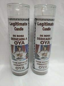 OYA Yanza Yansa Candle/Vela Scented/Olor Glass Santeria
