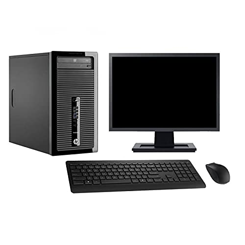 HP Torre 400 G1 22' Intel i7-4770 RAM 16 GB disco 500 GB Windows 10 WiFi (reacondicionado)