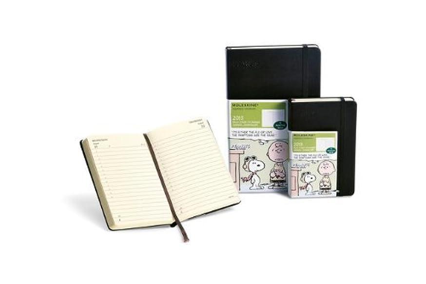 チャンピオン定数積極的にMoleskine 2013 Peanuts Limited Edition Daily Planner, 12 Month, Pocket, Black, Hard Cover (3.5 x 5.5) (Planners & Datebooks) by Moleskine(2012-05-09)