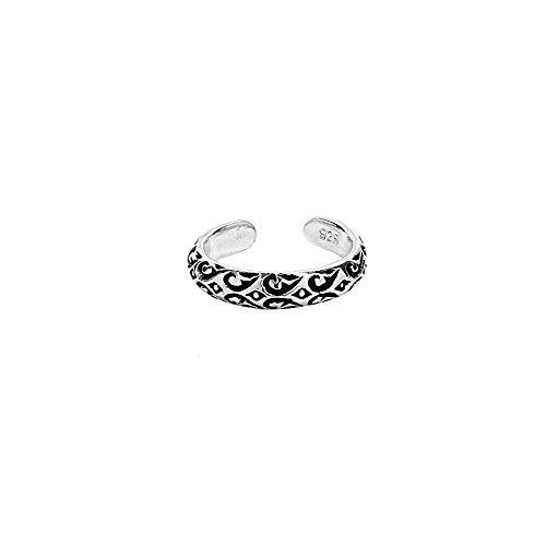 Nklaus - Anillo de plata de ley 925, diseño celta gótico de vikingo