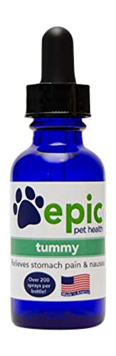 Tummy - Natural  Electrolyte  Odorless Pet Supplement That Relieves Stomach Pain and Nausea (Dropper  1 Ounce)
