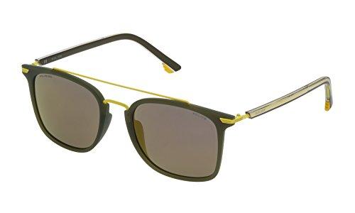 Police SPL58354736G Gafas de sol, Verde, 54 Unisex