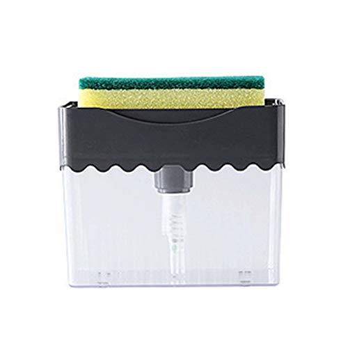 dispensador de jabón Con dispensador de jabón sostenedor de la esponja 2-en-1, jabón de la bomba, la tapa contraria Manual de líquido adición Máquina Expendedora Incluido esponja 300ml / 10.1oz Dispen