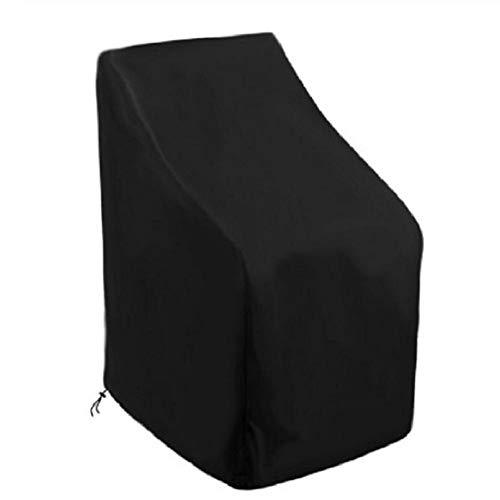 Funda para silla de jardín AILEE, funda para silla de terraza para almacenamiento de sillas al aire libre, tela Oxford impermeable y resistente al desgarro